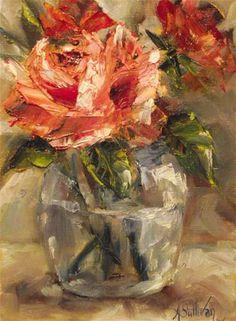 """Glycerin And Rosewater"" - Original Fine Art for Sale - © Angela Sullivan"