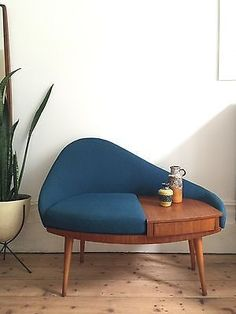 1960s mid century telephone chair seat