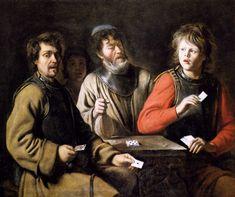 Card players - Le Nain brothers - WikiArt.