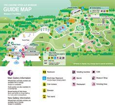 Hakone Open Air Museum Signage Design, Map Design, Brochure Design, Design City, Information Design, Travel Information, Isometric Map, Nightlife Travel, Travel City