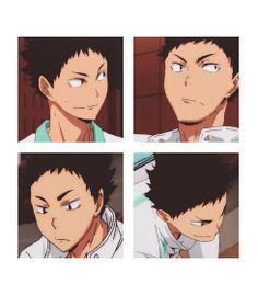 iwaizumi, smiles, uniform, anime, s1, gif, game, http://oh-zee.tumblr.com/post/105001985095/make-me-choose-iwaizumi-hajime-or-kuroo
