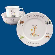 Porcelaine Premium Villeroy /& Boch Animal Friends Ensemble de vaisselle pour enfants avec motifs de chat Blanc//Gris 2 pi/èces