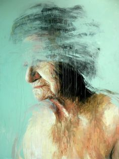 Old woman painting by Roberta Coni