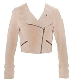 Just Jeans - Womens - Tops - Cropped Suede Biker Jacket