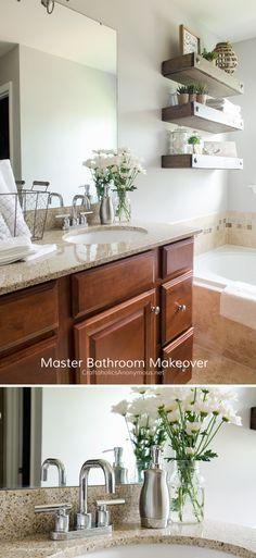 Master Bathroom Updatebrown and coral bathroom   Buscar con Google   Bedroom   Pinterest  . Easy Bathroom Updates. Home Design Ideas