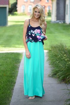 Mint body with a floral accent pattern. True to size. Some Stretch. Model is 5'5'' a size 0 wearing a small. Material: 95% Rayon 5% Spandex Product Sizing Chart Size Bust Hip Length Waist Small 36 N/A