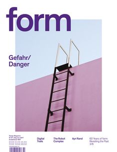 form N° 271 2017. Gefahr/Danger. Art Direction: Carolin Blöink, Susanne Heinlein, Sarah Schmitt; photo: Sallie Harrison © Verlag form GmbH & Co. KG