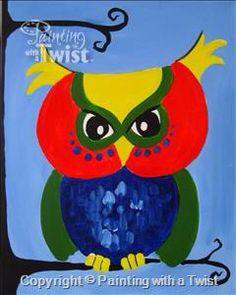 #PWAT  #PaintingWithATwist  Hoots