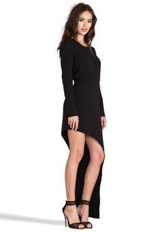 LINE & DOT Asymmetry Hem Dress in Black - Line & Dot