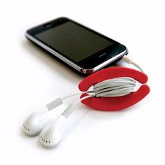 Cool thingy to wrap earphone cord around. Mine always get tangled.
