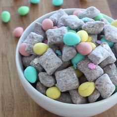 This Easter-themed puppy chow is the perfect festive treat to have on hand for when you feel like nibbling!