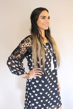 Cute, hearts and doves dress, play it up or down! i loved this dress. so feminine and stylish yet cute and cool too x