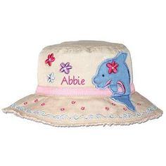 Personalized Toddler Bucket Hat personalize mermaid Children/'s Stephen Joseph Sun Hat stephen joseph girl beach hat tan dolphin hat