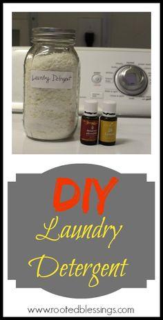 DIY Laundry Detergent #essentialoils #DIY