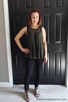 Pixley Rexford Mesh Neckline Tank - Stitch Fix I love this for fall paired with a cute sweater