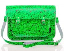 Green Fluro Small Floral Print Satchel From £113
