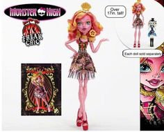 "Monster High 2015 - Freak Du Chic - Gooliope J' Ellington - She's over 17"" tall!!!!!!!!  You can tell from looking at the picture that she's got more of a Ball Jointed Doll type articulation to her elbows and knees.  I am SO super excited!!!  Finally, two loves combined!  Monster High and BJD's!!!"