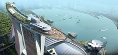 The Marina Bay Sands hotel. Singapore. Awesome hotel with great views and pretty cool Infinity pool.