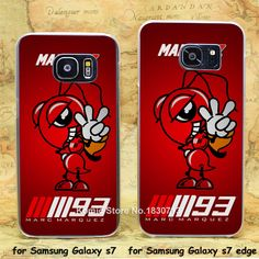 marc marquez 93 cartoon Ant transparent clear hard case cover for Samsung Galaxy s7 s7 edge