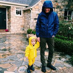 Jim Toth & Tennessee James Toth from Cutest Celeb Kids on Instagram  The father-son duo look adorable matching in raincoats!