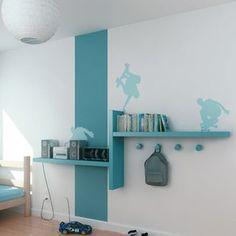 Style �tag�re chambre du petit (�tag�re gris et bande de peinture gris anthracite, sans stickers) - Cubes en s�rie dans le sundgau par huby68480 sur ForumConstruire.com