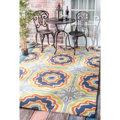 nuLOOM Handmade Indoor/ Outdoor Spanish Tiles Multi Rug - Overstock Shopping - Great Deals on Nuloom 7x9 - 10x14 Rugs