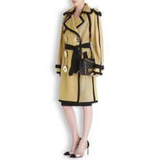Gold mesh trench coat - Women