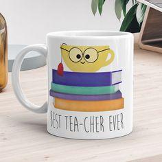 Best Tea-cher Ever Ceramic Mug 11oz or 15oz by ALittleLeafy