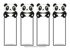 Panda Bookmarks - Blank