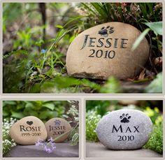 Pet grave marker rocks...