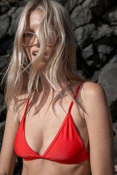 Red triangle bikini | @styleminimalism