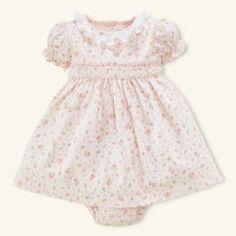 Smocked Floral Cotton Dress - Layette Dresses & Rompers - RalphLauren.com