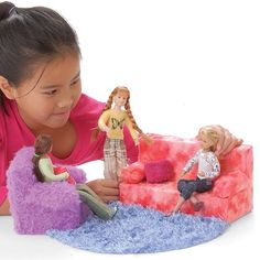 Create a Doll Couch From a Tissue Box