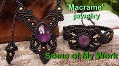 How to make a macrame knot wrapped stones handmade with waxed cord Mops Collar Macrame, Macrame Colar, Macrame Rings, Macrame Art, Macrame Necklace, Macrame Knots, Macrame Bracelets, Beaded Jewelry, Knot Necklace