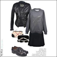 Lederjacke: #Muubaa Sweater: #ByChance Schlüsselanhänger: #Burberry Sonnenbrille: #LindaFarrow Schuhe: #Alaia