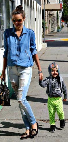 Street style - Celebrity moms ♥ na ♥ GG's tiny times ♥