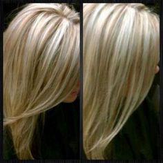Platinum blonde with lowlights