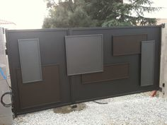 portail acier moderne - Recherche Google Garage Doors, Cabinet, Recherche Google, Storage, Outdoor Decor, Furniture, Home Decor, Steel, Modern
