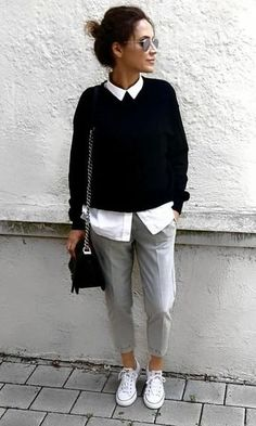 30 Street Style Outfits To Inspire - Game of Spoons 30 Street Style Outfits To In . , 30 Street Style Outfits To Inspire - Game of Spoons 30 Street Style Outfits To In . Summer Work Outfits, Casual Work Outfits, Business Casual Outfits, Formal Outfits, Black Outfits, Smart Casual Winter Outfits, Winter Office Outfit, Casual Work Attire, Basic Outfits