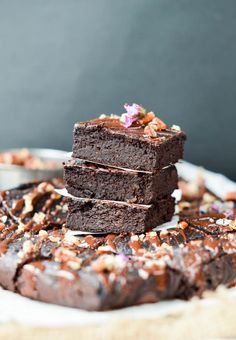 Healthy Low Carb Fudgy Avocado Brownies with only 1.7 g carb per slice. Moist, gooey and fudgy. The best sugar-free, gluten free, paleo, dairy free brownie.