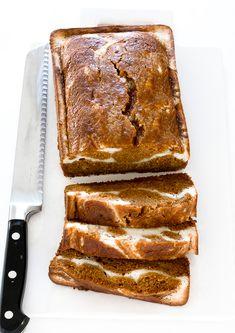 Pumpkin Cream Cheese Bread, Pumpkin Loaf, Moist Pumpkin Bread, Pumpkin Puree, Pumpkin Swirl Bread Recipe, Pumpkin Bread Recipes, Cream Cheese Desserts, Pumpkin Chocolate Chip Bread, Pumpkin Waffles