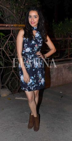 The ombré dress: The actor makes a strong case for dip-dye as she sports this Theia Couture dress with minimal makeup and jewellery.The winter floral dress: Shraddha Kapoor donned this floral Forever New dress which she paired with brown ankle boots. Beautiful Dresses, Nice Dresses, Dresses For Work, Beautiful Women, Forever New Dress, Sraddha Kapoor, Beautiful Bollywood Actress, Bollywood Stars, Western Outfits