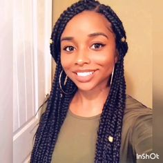 Click the link to watch the full video on IG of me adding extensions to my hair for box braids! # jumbo box Braids videos Doing Box Braids on myself for the first time! Big Cornrows Hairstyles, Box Braids Hairstyles For Black Women, Twist Braid Hairstyles, Frontal Hairstyles, Braids For Black Hair, Twist Braids, African Hairstyles, Black Hairstyles, Micro Braids