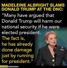 She nailed it. Trump and his Visceral, Vile Supporters have done Immeasurable Harm to Our Nation Already.