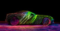 Mind blowing Ferrari Photoshoot with Luminescent Paint by Fabian Hefner