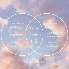 The intersection between unconditional self love, inner peace, believing in yourself, making an impact, living life on your own terms, and cultivating gratitude. More free resources & inspiration on self improvement and creating your dream life at 💜 lavendaire.com 💜 Inner Peace, Dream Life, Live Life, Self Love, Dreaming Of You, Do You Feel, Self Improvement, Believe In You, Gratitude
