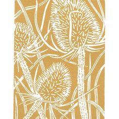 Wild Flower - Teasel - Original Linocut Print