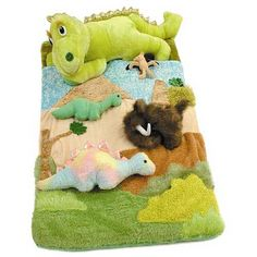 Top Seller - Dinosaur Sleeping Bag - The beautiful colors and charming design, as well as the removable plush toys included, add to the excitement of the Dinosaur Sleeping Bag. off When you buy 3 or More items from this Theme. Toddler Sleeping Bag, Luxury Nursery, Dinosaur Bedroom, Sleep Sacks, Sleepover, Slumber Parties, Baby Kids, Plush, Dinosaurs