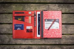 iPad Air & Extra Large Moleskine Cover-Red - GalenLeather  - 1
