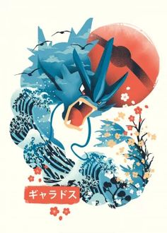 Pokiyo e Flying Monster Gaming Poster Print Pokemon Tattoo, Pokemon Fan Art, Flying Monsters, Gaming Posters, Day Of The Shirt, Harry Potter, Kawaii, Slayer Anime, Print Artist